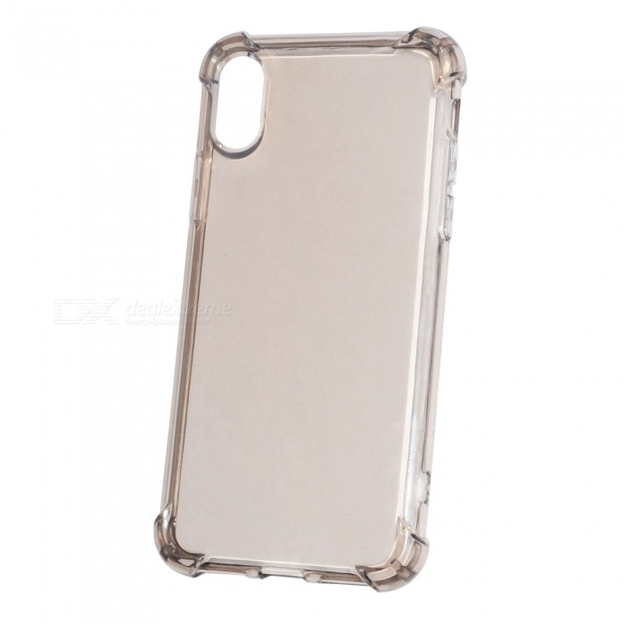 Premium Anti-Falling TPU Case for IPHONE X - Translucent CoffeeTPU Cases<br>Form  ColorTransparent CoffeeQuantity1 DX.PCM.Model.AttributeModel.UnitMaterialTPUCompatible ModelsOthers,IPHONE XDesignTransparentStyleBack CasesPacking List1 x Case<br>