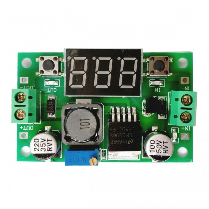 LM2596S DC-DC högspänningsregulator Buck Digital Display Power Module