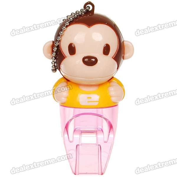 Cute Monkey Plastic Whistle (Color Assorted)