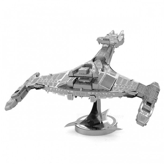 Klingon Vorcha DIY 3D Puzzle Assembled Model Toy - SilverBlocks &amp; Jigsaw Toys<br>Form  ColorSilverMaterialStainless steelQuantity1 setNumber2Size13.5 * 6 * 7cmSuitable Age 8-11 years,12-15 years,Grown upsPacking List1 x Model Toy<br>