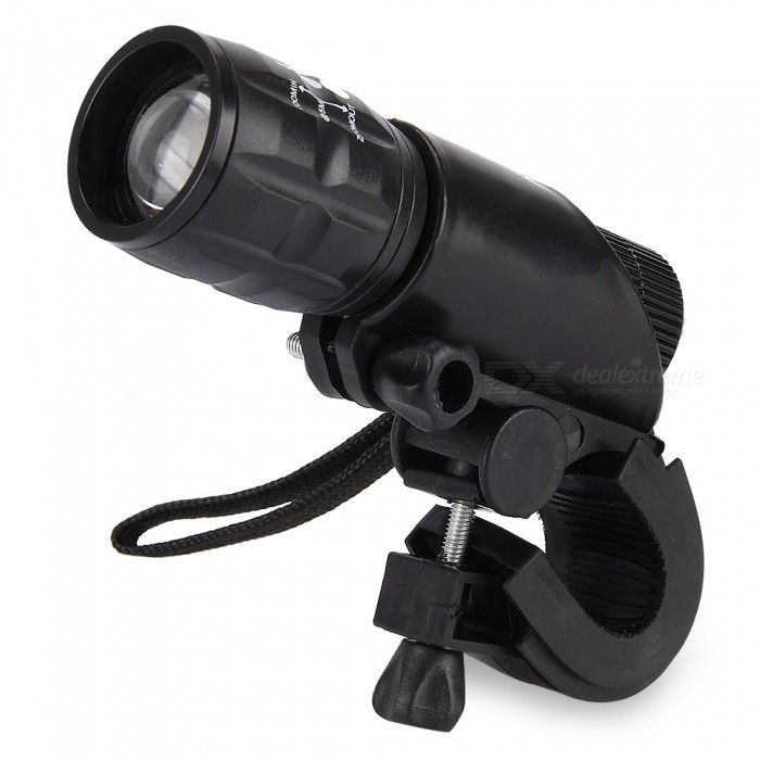 Q5 3-Mode LED Flashlight with Lamp Bracket - BlackBike Holder<br>Form  ColorBlackQuantity1 pieceMaterialStainless steelBest UseCycling,Mountain Cycling,Recreational Cycling,Road Cycling,Bike commuting &amp; touringTypeFlashlight Holders,Pannier Racks &amp; Bike RacksPacking List1 x Q5 Waterproof 3W 140lm 3 Modes LED Bike Light Zoomable Flashlight with Torch Holder<br>
