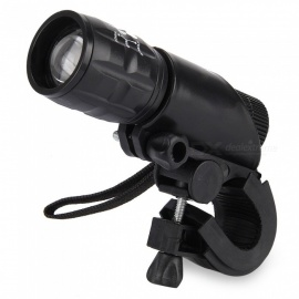 Q5 3-Mode LED Flashlight with Lamp Bracket - Black