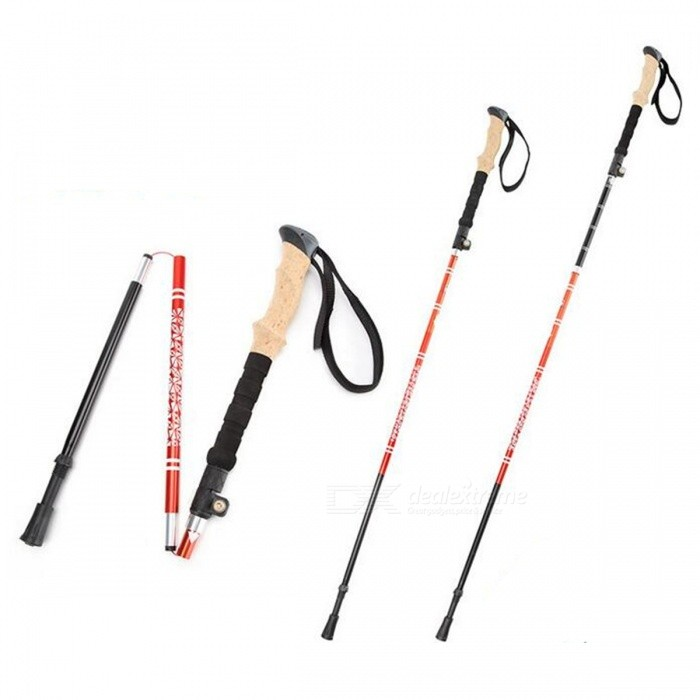 AoTu Ultra-Light Folding Ytterlås Aluminium Alloy Trekking Pole