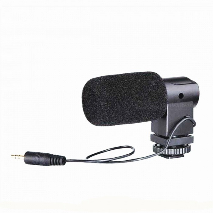 BOYA BY-V01 External Stereo Microphone for DSLR Camera - BlackOther Accessories<br>Form  ColorBlackModelBY-V01MaterialPlasticQuantity1 piecePacking List1 x Microphone1 x Foam windscreen1 x Fur windscreen1 x Pouch<br>