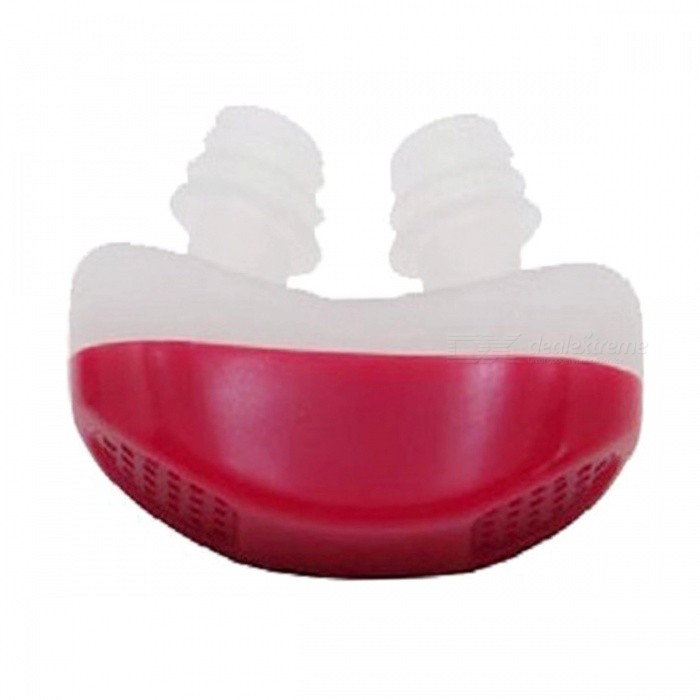 Mini Anti Snore Silicone Relieve Snoring Device - RedEyeshade<br>Form  ColorRedMaterialABS + SiliconeQuantity1 pieceShade Of ColorRedDisplayNoControl ModeNoTarget PositionNoPhysical therapy functionAiding sleep apnea without disturbing normal sleep.<br>Purifying air to allow you to breathe healthy and fresh air.Power SupplyOthers,NoPower AdapterOthers,NoPacking List1 x Anti Snore Device<br>