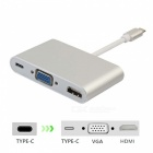 BSTUO Type-C USB 3.1 to VGA 4Kx2K HDMI PD Charger Converter for Mac