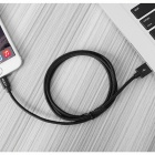 ROCK MFI Lightning to USB Charge & Sync Round Cable - Black (1m)
