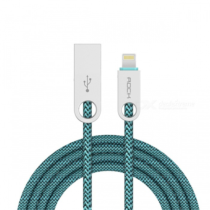 ROCK 180cm Cobblestone Charging & Sync Cable for IPHONE - Blue