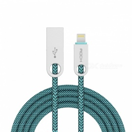 Cable de sincronización y carga de adoquines ROCK 100cm para IPHONE - azul