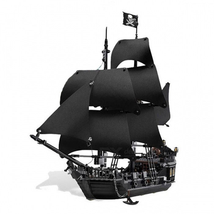 Pirates of the Caribbean The Black Pearl Ship Model Building BricksBlocks &amp; Jigsaw Toys<br>Form  ColorBlackModelN/AMaterialPlasticQuantity1 setNumber804Suitable Age 5-7 years,8-11 yearsPacking List804 x Blocks<br>