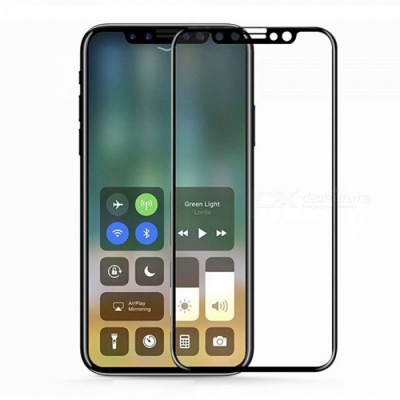 SZKINSTON 3D Tempered Glass Screen Protector Film for IPHONE X - Black