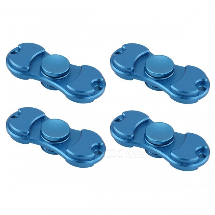 KICCY 4Pcs EDC Fidget Spinners for Relieving Stress, Anxiety - GoldenFinger Toys<br>Form  ColorSapphire BlueMaterialBrassQuantity4 piecesSuitable Age 9-12 months,13-24 monthsPacking List4 x Spinners<br>