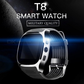 T8 Bluetooth Smart Watch with Camera, Music Player for Android - Blue