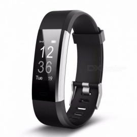 ID115HR PLUS Sports Heart Rate Smart Wristband - Black