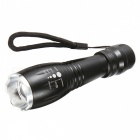 SPO Outdoor Zooming LED Strong Light Waterproof Flashlight - Black