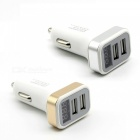 Car Charger Interfaz USB Dual con Pantalla Digital - Oro