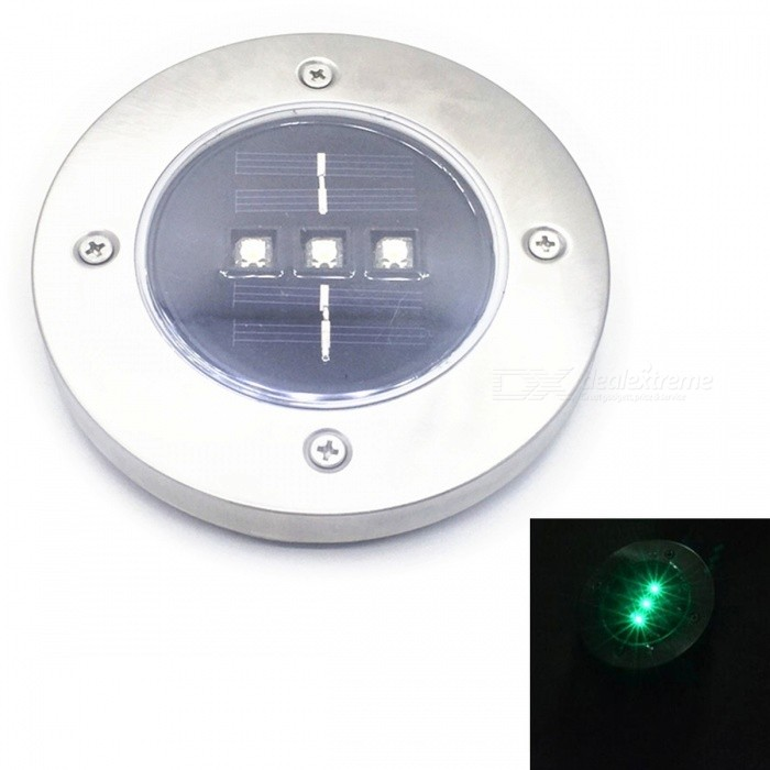 Outdoor Solar Powered Waterproof Lawn Light Lamp - Green LightSolar Lamps<br>Form  ColorGreen LightMaterialStainless Steel + ABS + PolysiliconQuantity1 DX.PCM.Model.AttributeModel.UnitWaterproof LevelIP65Emitter TypeLEDPower2 DX.PCM.Model.AttributeModel.UnitWorking Voltage   5 DX.PCM.Model.AttributeModel.UnitWorking Current100 DX.PCM.Model.AttributeModel.UnitBattery Capacity600 DX.PCM.Model.AttributeModel.UnitBattery Charging Time6-8 hoursWorking Time72 DX.PCM.Model.AttributeModel.UnitCertificationCEPacking List1 x Lawn light2 x Inserted rods<br>