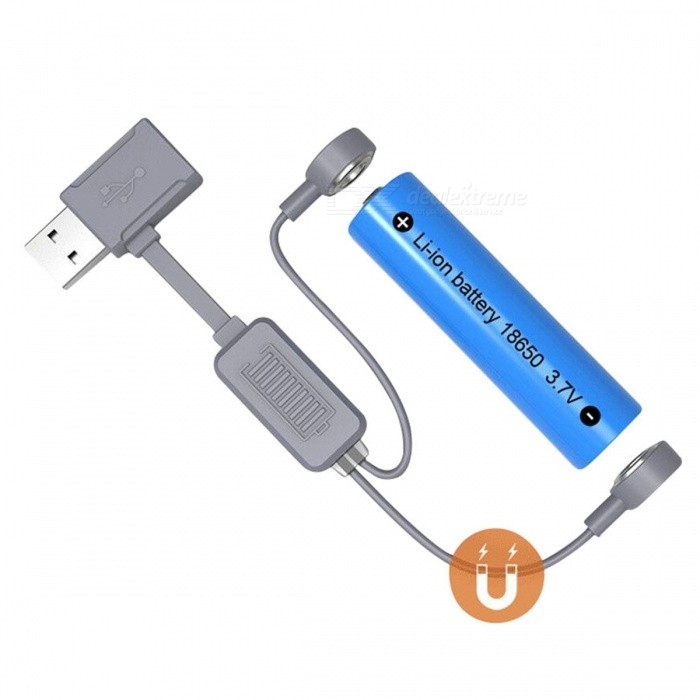FOLOMOV A1 Portable Magnetic USB Li-ion Battery ChargerChargers<br>Form  ColorGreyPower AdapterOthersModelA1Quantity1 DX.PCM.Model.AttributeModel.UnitMaterialPasticCharging Cell TypeLithium IonCharging Battery Type18650,10440,14500,17670,26650,Others,All li-ion batteriesRechargeable Battery Qty1Target Country &amp; RegionAllBuilt-in Protected CircuitYesInput Voltage5 DX.PCM.Model.AttributeModel.UnitOutput Voltage5 DX.PCM.Model.AttributeModel.UnitMax. Output Current1 DX.PCM.Model.AttributeModel.UnitFast Charging FunctionYesLCD ScreenNoAuto Circuit DetectionYesIndicatorCharging, blinking green light Full chargedsolid green light Discharging, blinking blue lightOver Voltage ProtectionYesShort-Circuit ProtectionYesOver-Charging ProtectionYesOver-Discharging ProtectionYesPacking List1 x A1 Charger<br>