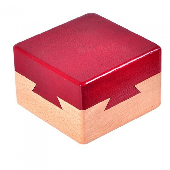 Mini 3D Brain Teaser Wooden Magic Drawers Gift Jewelery Box Puzzle ToyEducational Toys<br>Form  ColorRed + BrownMaterialWoodQuantity1 setSuitable Age 12-15 years,Grown upsPacking List1 x Puzzle box<br>