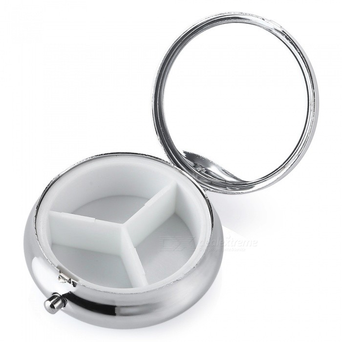 Travel Emergency Special Portable Pill Storage Box Case - SilverForm  ColorSilverQuantity1 pieceMaterialPlastic + Stainless SteelTypeOthersOther FeaturesFor: Business Trip, Indoor, Travel, Vocation; <br>Material: Plastic,Stainless Steel Season: All seasons<br>Color: Silver; Product weight: 0.0250 kg, <br>Package weight: 0.0280 kg, <br>Product size (L x W x H): 5.20 x 5.00 x 1.60 cm / 2.05 x 1.97 x 0.63 inches, <br>Package size (L x W x H): 6.00 x 6.00 x 2.00 cm / 2.36 x 2.36 x 0.79 inchesPacking List1 x Pill Storage Box<br>