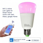 JIAWEN Dimmer Smart Wi-Fi RGBW LED Light Bulb, Works with Alexa