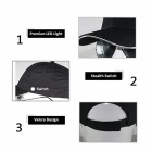 multi-Color LED Fiber Cap Baseball Hat för Club Party Sports-Svart
