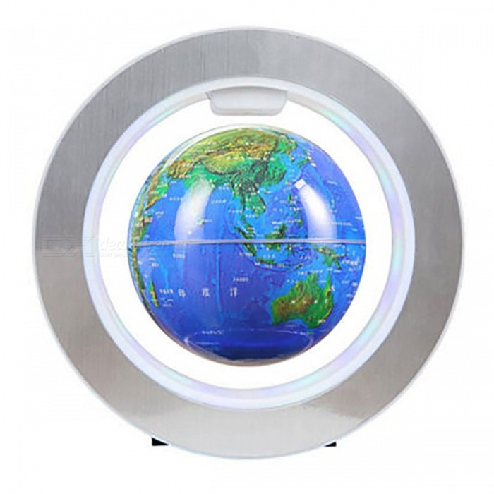 Electronic Magnetic Levitation Floating Globe Rotation Map - BlueOther Stationeries<br>Form  ColorBlueMaterialABSQuantity1 DX.PCM.Model.AttributeModel.UnitPacking List1 x Globe1 x Round Shape Base1 x US Plug Wall Adapter1 x User Manual<br>