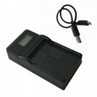 LPE8 LCD USB Battery Charger for Canon LP-E8 EOS 700D 650D 600D -Black
