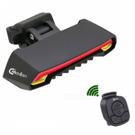 Wireless Bicycle Rear Light Smart USB Rechargeable Laser Tail Lamp