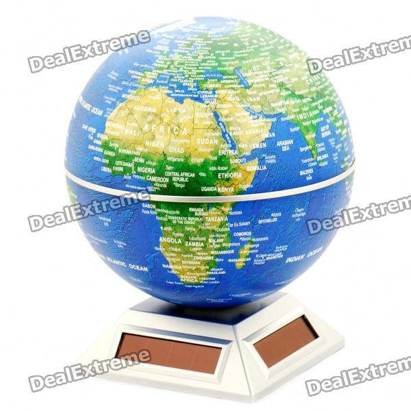 "6"" Plastic Auto-Rotation Globe - Color Assorted (1*AA)"