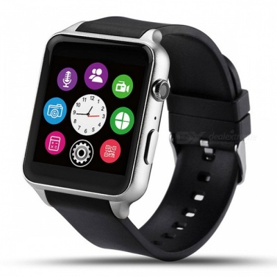 GT88 Bluetooth Smart Watch Phone w/ Heart Rate Monitor - Silver