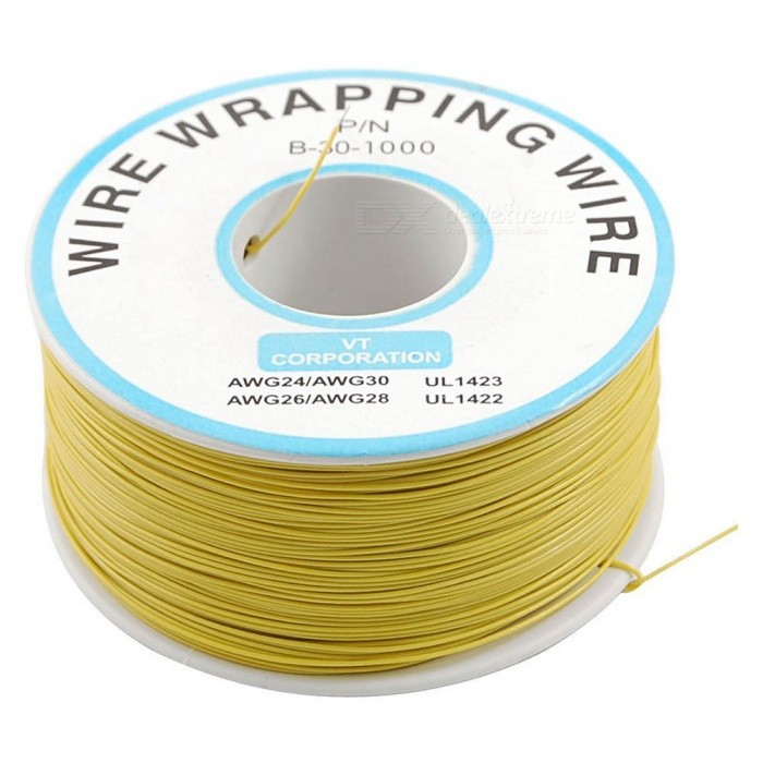 ZHAOYAO 305m PVC Coated Tinned Copper Wrapped Wire Package - YellowDIY Parts &amp; Components<br>Form  ColorYellowQuantity1 DX.PCM.Model.AttributeModel.UnitMaterialPlastic, PVC, tinned copperEnglish Manual / SpecNoCertificationNOPacking List1 x Packaging line<br>