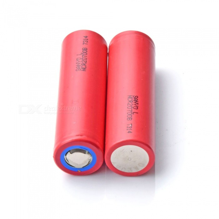 NCR20700B Imported 4250mAh 3.7V Lithium Battery - Red (2 PCS)