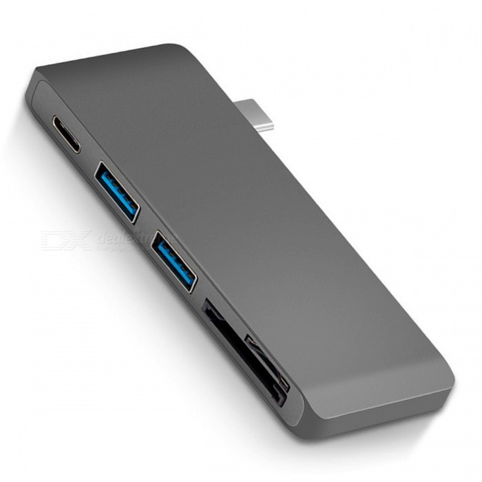 Cwxuan USB 3.1 Type-C to USB HUB w/ TF SD Card Reader / Charging PortLaptop/Tablet Cable&amp;Adapters<br>Form  ColorGreyQuantity1 DX.PCM.Model.AttributeModel.UnitShade Of ColorGrayMaterialAluminum alloyInterfaceOthers,USB 3.1 Type-C USB-C Multiple 2 Ports 3.0 Hub &amp; TF SD Card ReaderPacking List1 X USB-C 3.1 Type-C Combo HUB<br>