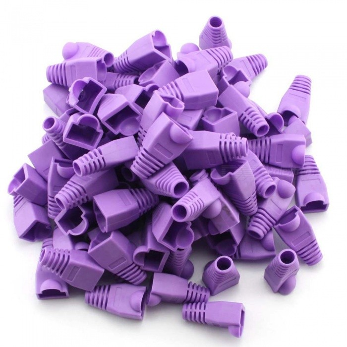 ZHAOYAO CAT6 RJ45 Ethernet Network Cable Caps - Violet (200 PCS)DIY Parts &amp; Components<br>Form  ColorPurpleQuantity1 DX.PCM.Model.AttributeModel.UnitMaterialSoft plasticEnglish Manual / SpecNoCertificationNoPacking List200 x RJ45 Boot covers<br>
