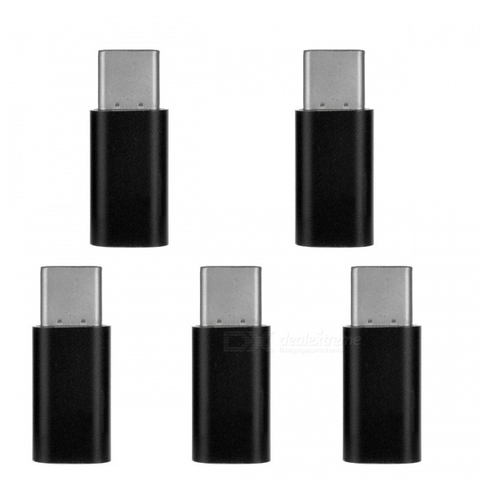 Mini Smile Type-C to Micro USB Adapter for Samsung Galaxy Note 8Adapters &amp; Converters<br>Form  ColorBlackModelMC01MaterialAluminium AlloyQuantity5 pieceCompatible ModelsSamsung Galaxy Note 8FeaturesInterface conversionConnectorUSB 3.1 Type-C / Micro USBCable Length2.5 cmPacking List5 x Adapters<br>