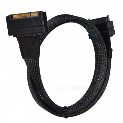 CY SF-105-0.5M U.2 U2 SFF-8639 NVME PCIe SSD Cable Male to Female Extension Cable 68 Pin - 50CM