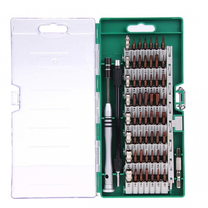 60-in-1 Precision Screwdriver Tool Kit Magnetic Screwdriver SetScrewdriver, Screwdriver Set<br>Form  ColorGreenModel-Quantity1 DX.PCM.Model.AttributeModel.UnitMaterialAlloy SteelPacking List1 x Screwdriver Set<br>