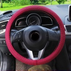 CARKING 38cm Dia Odorless Breathable Steering Wheel Cover - Red