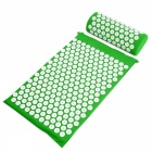 Acupressure Mat + Pillow for Back Neck Body Pain Relief - Green