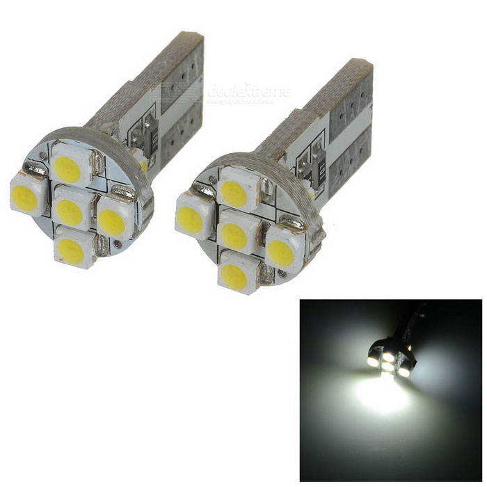 0.5W 12V 56-Lumen 7x3528 SMD LED Car White Light Bulb (Pair) 9006 6w 190 lumen 18x5050 smd led car white light bulb dc 12v