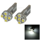 0.5W 12V 56-Lumen 7x3528 SMD LED Car White Light Bulb (Pair)