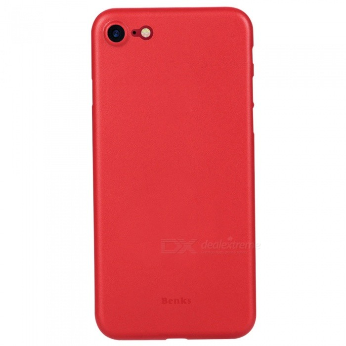 Benks Ultra Thin Lollipop PP Case for IPHONE 8/7 - Red (0.4mm)Plastic Cases<br>Form  ColorRedModelLollipopQuantity1 DX.PCM.Model.AttributeModel.UnitMaterialPPCompatible ModelsiPhone 7,IPHONE 8DesignSolid Color,MatteStyleBack CasesCertificationRoHSOther Features0.4mm thickness only; <br>Full protection; <br>Precise Hole; <br>With mat finish on the surface, it can prevent the accidental slip of the phone.  Anti-fingerprint, anti-scratch, waterproof &amp; durable.Packing List1 x Protective Case<br>