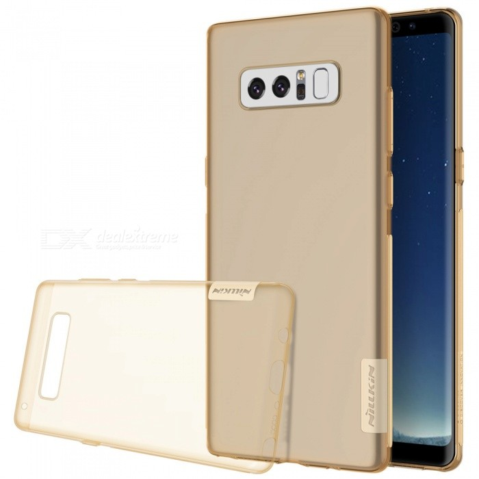 Nillkin Soft TPU Protective Case for Samsung Galaxy Note 8 - BrownTPU Cases<br>Form  ColorTranslucent TawnyModelNSXNOT8BS02MaterialTPUQuantity1 pieceShade Of ColorBrownCompatible ModelsGalaxy Note 8Packing List1 x Nillkin Nature TPU Case<br>
