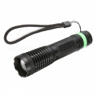 SPO Outdoor LED Strong Light Rechargeable Aluminum Alloy Flashlight