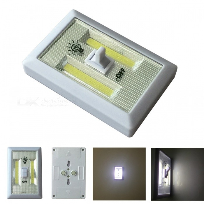 Universal LED Light Switch System AAA Nattlampa för Garderob - Vit
