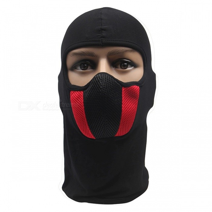 Mens Face Mask Outdoor Helmet Hood for Motorcycle Ski SportOthers<br>Form  ColorRedSizeOthersQuantity1 DX.PCM.Model.AttributeModel.UnitMaterialCotton net materialShade Of ColorRedPacking List1 x Face Mask<br>