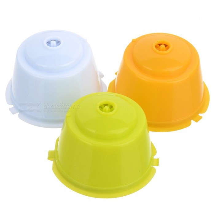Dolce Gusto Refillable Capsule, Coffee Filter Baskets (3 PCS)Lifestyle Gadgets<br>Form  ColorWhite + Green + Multi-ColoredMaterialPlasticQuantity3 DX.PCM.Model.AttributeModel.UnitPacking List3 x Coffee Capsules<br>