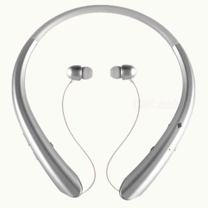 Sports Bluetooth Wireless Stereo Neck Headset Headphones - SilverHeadphones<br>Form  ColorWhite SilverBrandOthersMaterialABSQuantity1 DX.PCM.Model.AttributeModel.UnitConnectionBluetoothBluetooth VersionBluetooth V4.0Operating Range10mHeadphone StyleBilateralWaterproof LevelIPX3Applicable ProductsUniversalHeadphone FeaturesPhone Control,Long Time Standby,Magnetic AdsorptionSupport Memory CardNoSupport Apt-XYesPacking List1 x In Ear Bluetooth Headset1 x USB Charging Cable1 x User Manual<br>