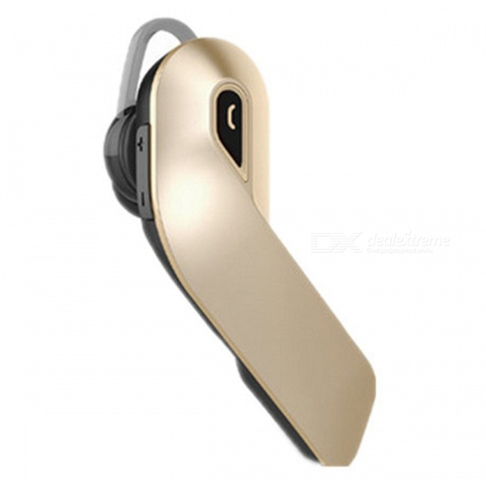 Stylish Bluetooth Wireless Earphone Single-Ear Car Headset - GoldenHeadphones<br>Form  ColorGolden + Black + Multi-ColoredBrandOthersMaterialABSQuantity1 DX.PCM.Model.AttributeModel.UnitConnectionBluetoothBluetooth VersionBluetooth V4.1Bluetooth ChipCSROperating Range10mHeadphone StyleBilateralWaterproof LevelIPX3Applicable ProductsUniversalHeadphone FeaturesPhone Control,Long Time Standby,Noise-CancelingSupport Memory CardNoSupport Apt-XYesBuilt-in Battery Capacity 70 DX.PCM.Model.AttributeModel.UnitTalk Time7-10 DX.PCM.Model.AttributeModel.UnitMusic Play Time5-8 DX.PCM.Model.AttributeModel.UnitPacking List1 x In Ear Bluetooth Headset1 x USB Charging Cable1 x User Manual<br>